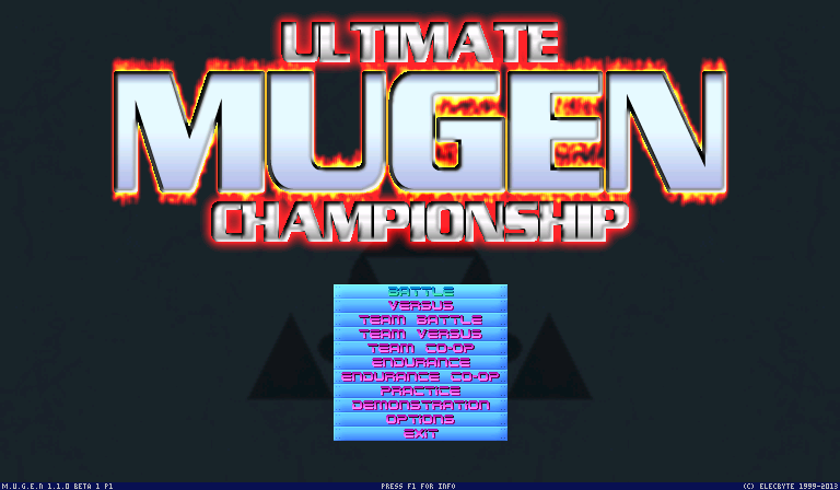 Ultimate Mugen Championship Screenpack - Screenpacks - AK1 MUGEN