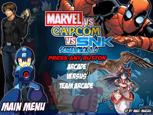 Mugen Marvel vs Capcom vs SNK Screenpack 1.0