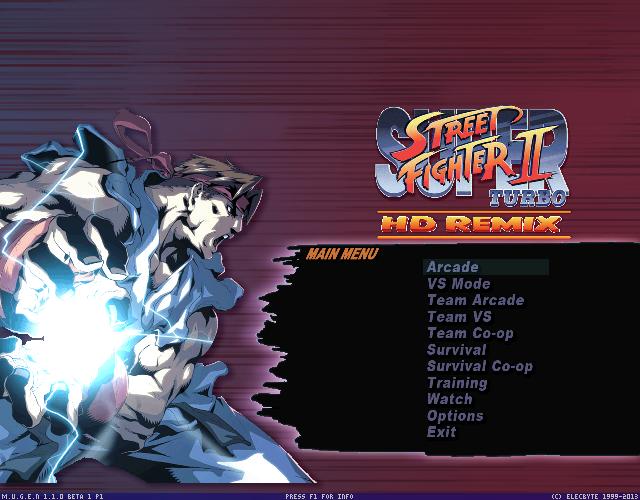 Super Street Fighter 2 turbo HD Remix screenpack