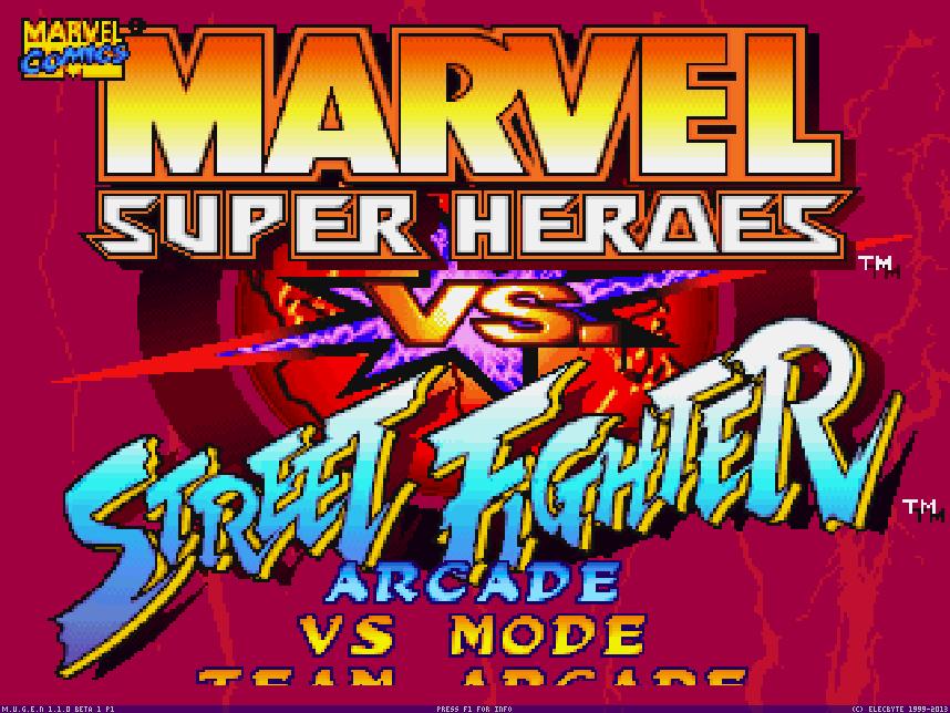 Marvel SH vs. Street Fighter Screenpack
