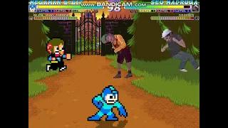 Megaman 8-Bit and Alex Kidd Shinobi vs Seu Madruga and Godines MUGEN BATTLE